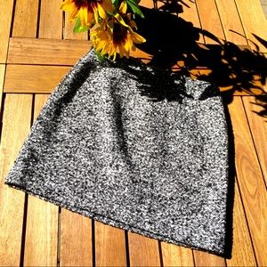 Tahari Black and White Tweed Mini Skirt